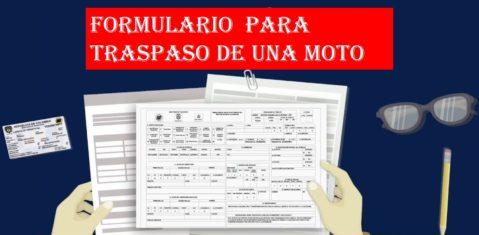 Formulario para traspaso de una Moto