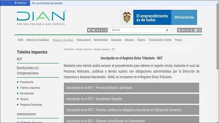 Requisitos para la inscripción del RUT