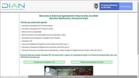 Sistema de agendamiento virtual de la DIAN