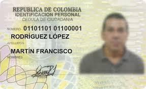 cédula de identificación colombiana