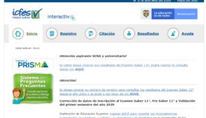 Página principal ICFES