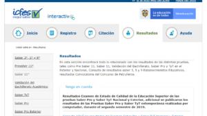 Página resultados ICFES