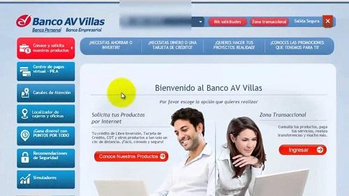 Av Villas Banco consulta de numero de cuenta