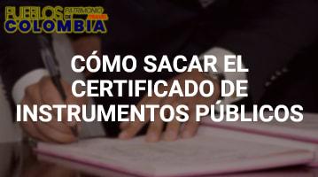 Certificado de instrumentos públicos