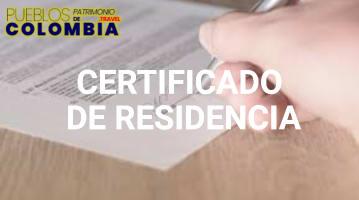 Solicitud de Certificado de Residencia en Colombia