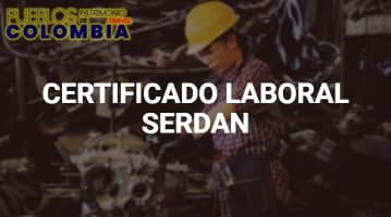 Certificado Laboral Serdan