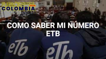 Cómo saber mi Número ETB