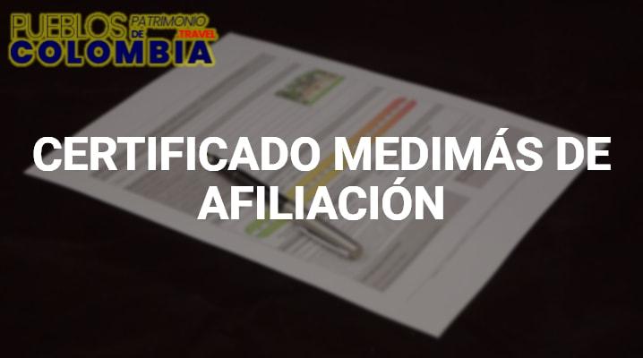 Certificado Medimás de Afiliación