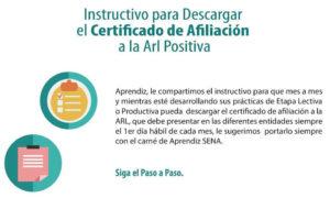 Como descargar el Certificado ARL Positiva