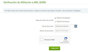 Consulta ARL