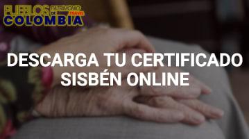 Descargar tu Certificado Sisbén online