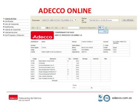 certificado adecco