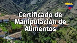 certificado de manipulacion