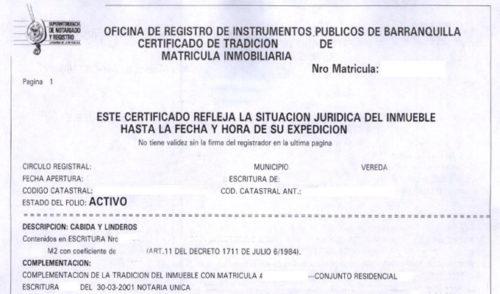 certificado definitivo propiedad horizontal