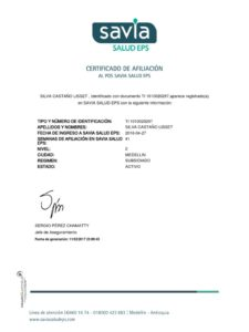 ejemplo certificado