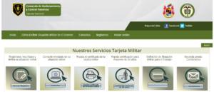 Pagina web Libreta Militar