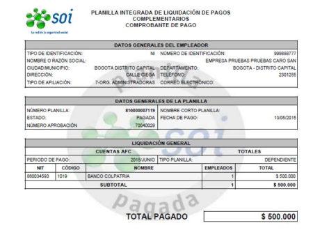 pago SOI