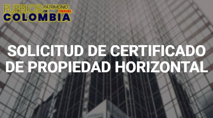 Certificado propiedad horizontal