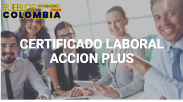Certificado laboral acción plus