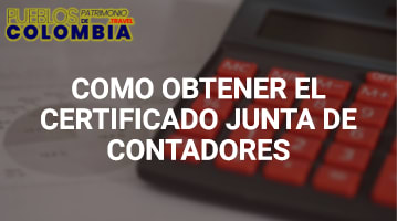 Certificado junta de contadores