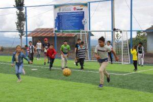 Cancha de futbol del Albergue Infantil Alfonso Lopez